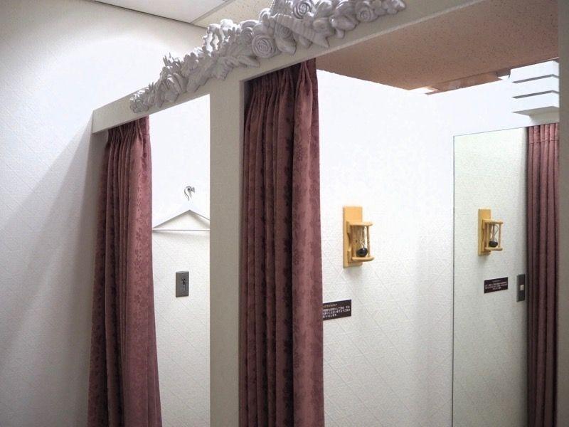 東京VIPラウンジのフィッティングルーム