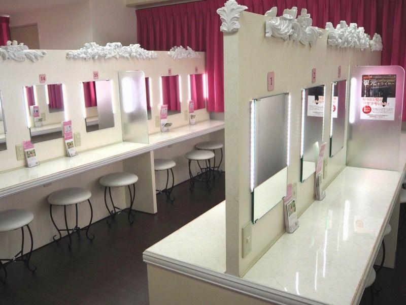 東京VIPラウンジの女性用パウダールーム