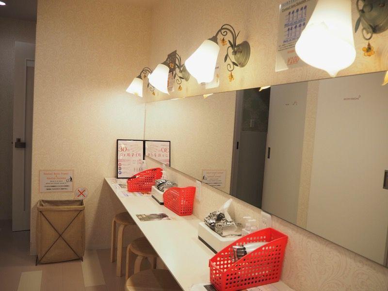 ホステルわさび名古屋のパウダールーム