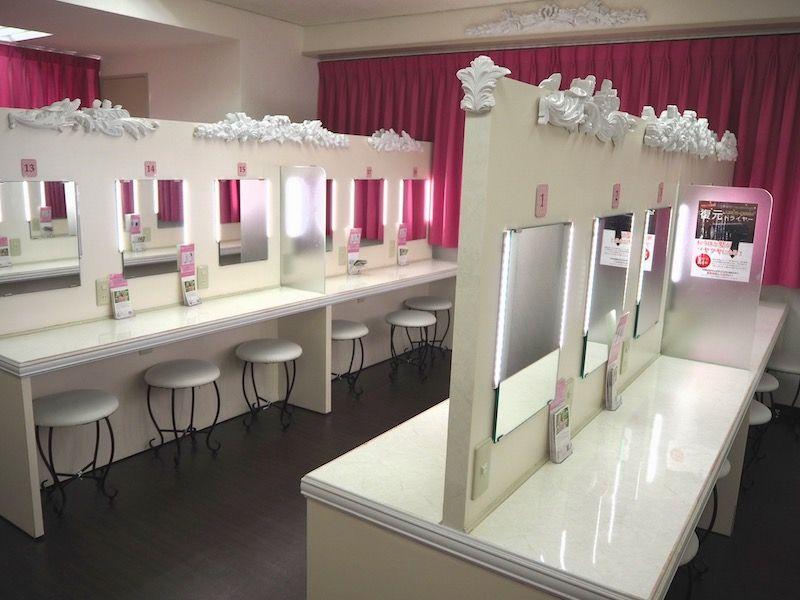 東京VIPラウンジのパウダールーム