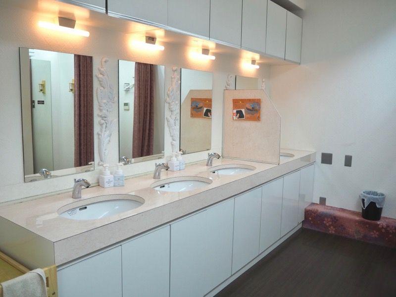 東京VIPラウンジの洗面所